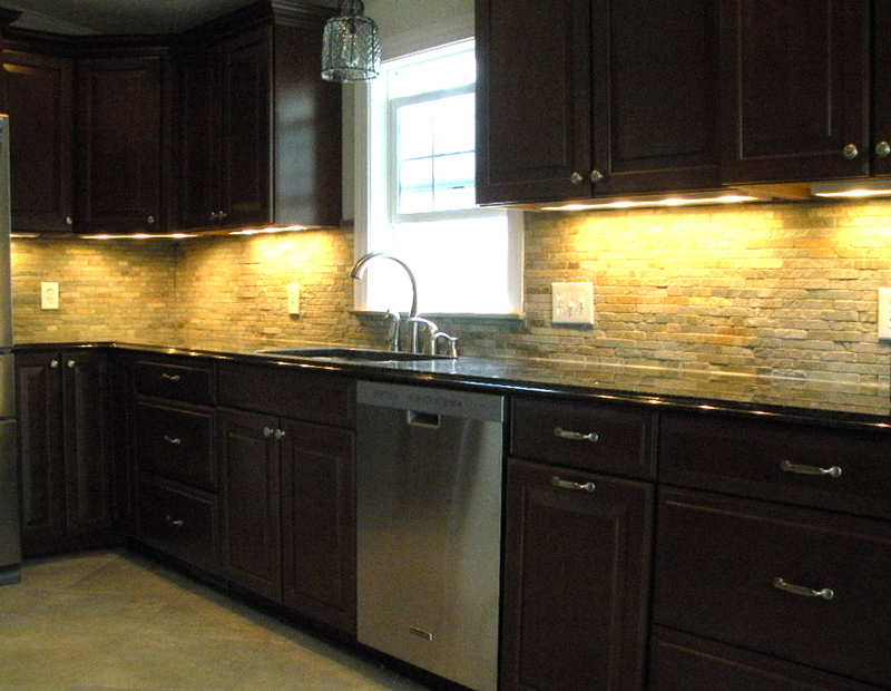 natural stone veneer backsplash also referred to as stacked stone it